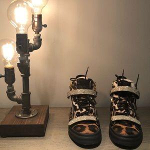 Giuseppe Zanotti animalier & sparkle sneakers